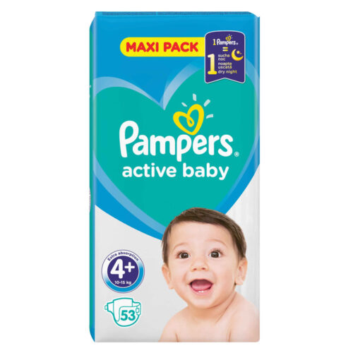 Pampers Active Baby Maxi Pack No 4+ 10-15kg